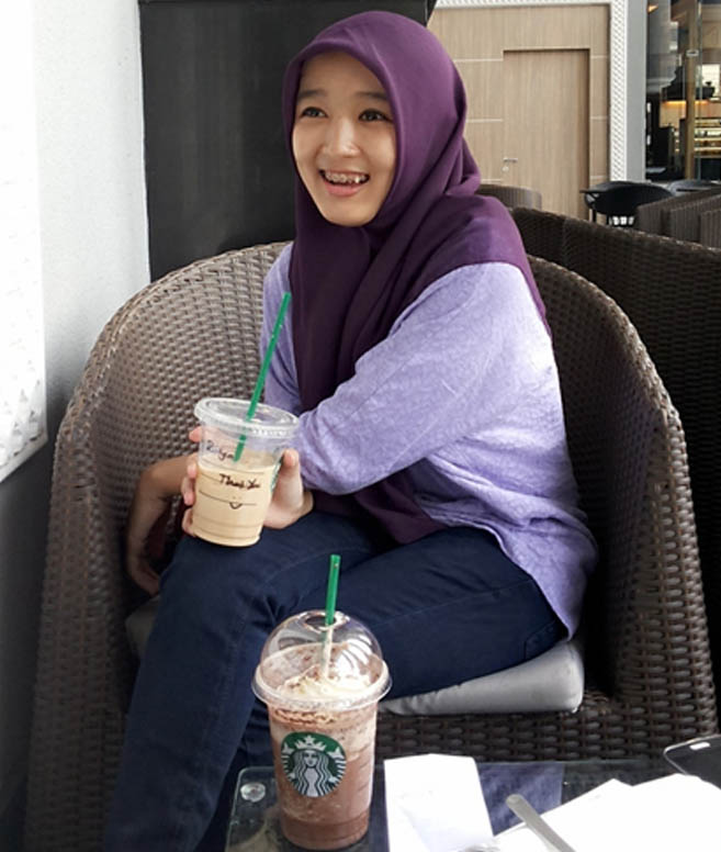 And girl in Indonesia at Starbucks. What is the result of losing our differences?