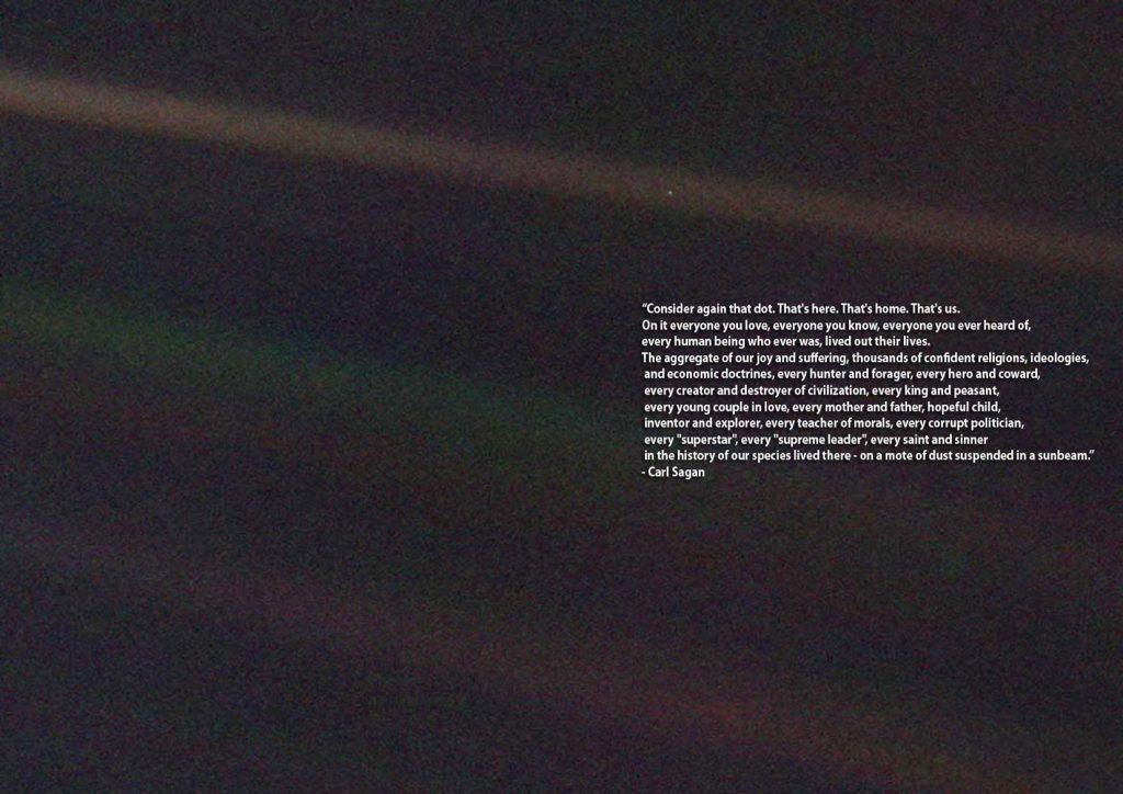 Un punto azul pálido Sagan Tierra